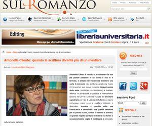 Sul romanzo - Antonella Cilento